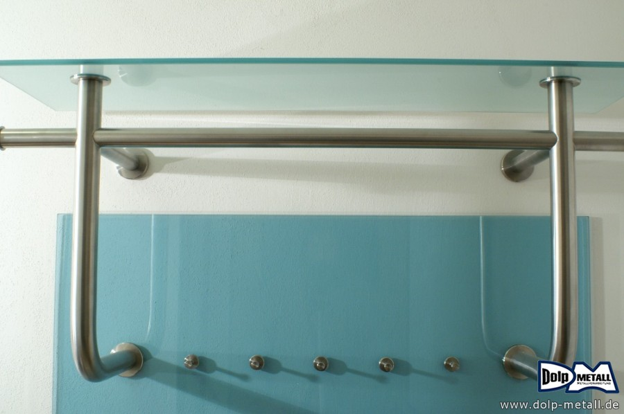 fotogalerie garderobe glas edelstahl dolp metall e k. Black Bedroom Furniture Sets. Home Design Ideas
