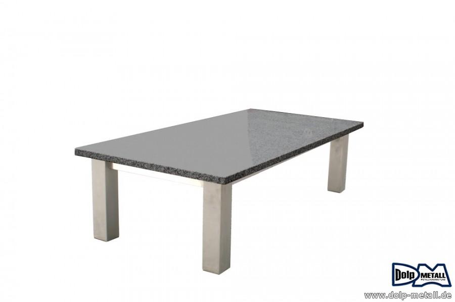Tische Granit Couchtisch Edelstahl Granit Dolp Metall E K