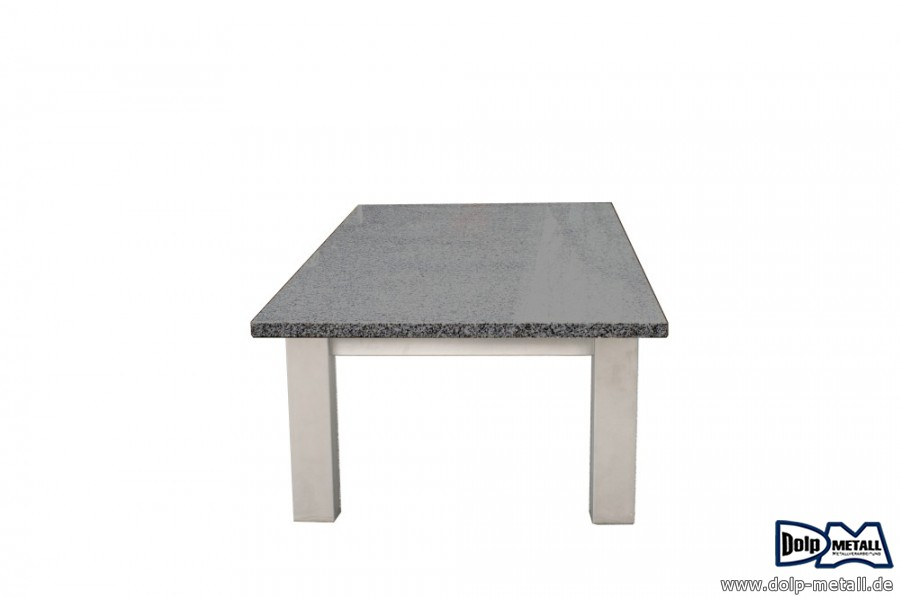 fotogalerie couchtisch edelstahl granit dolp metall e k. Black Bedroom Furniture Sets. Home Design Ideas