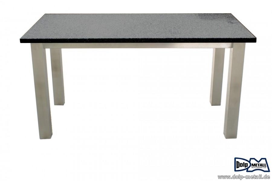 ger teschuppen metall gartentisch edelstahl granit dolp metall e k. Black Bedroom Furniture Sets. Home Design Ideas