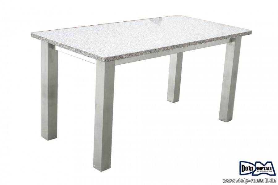 metallbau gartentisch edelstahl granit dolp metall e k. Black Bedroom Furniture Sets. Home Design Ideas