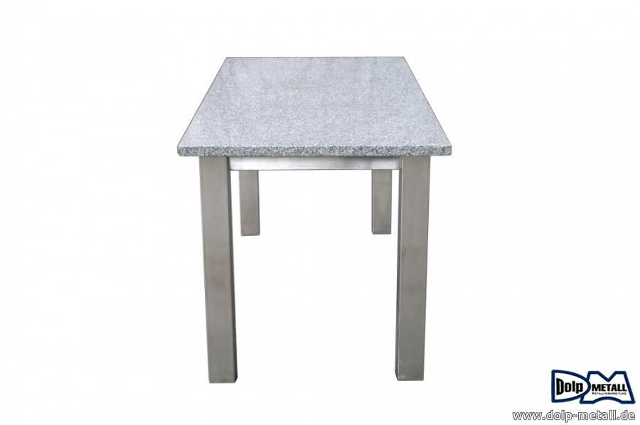 fotogalerie gartentisch edelstahl granit dolp metall e k. Black Bedroom Furniture Sets. Home Design Ideas